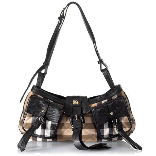 Burberry Quilted House Check Shoulder Handbag