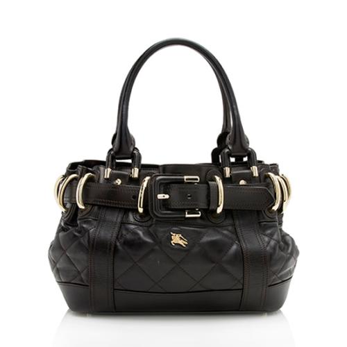Burberry Quilted Leather Baby Beaton Satchel