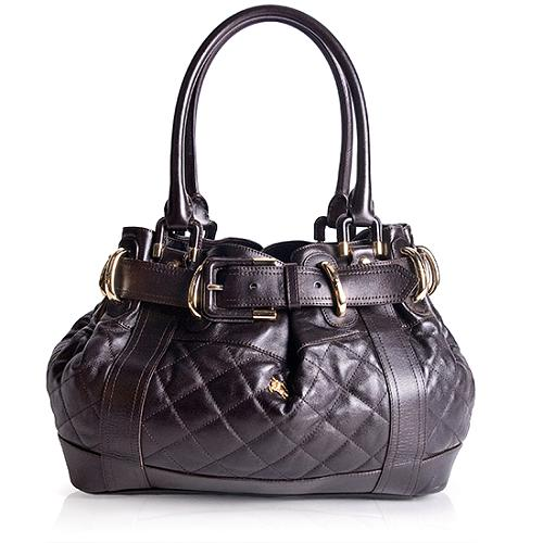 Burberry Quilted Leather Beaton Large Tote