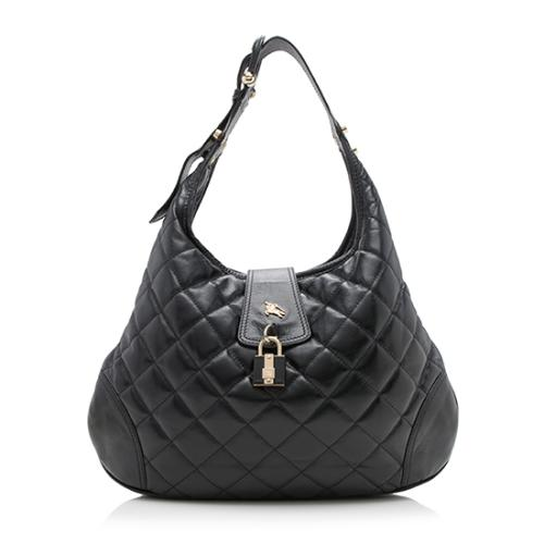 Burberry Quilted Leather Brooke Hobo