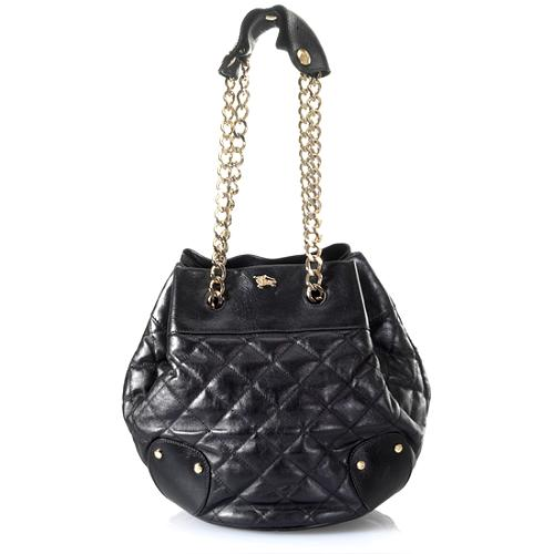 Burberry Quilted Leather Bucket Tote