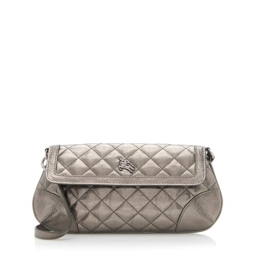 Burberry Quilted Leather Clutch