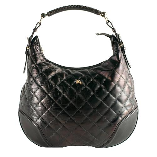 30789d08f94b Burberry Quilted Leather  Hoxton  Hobo Handbag