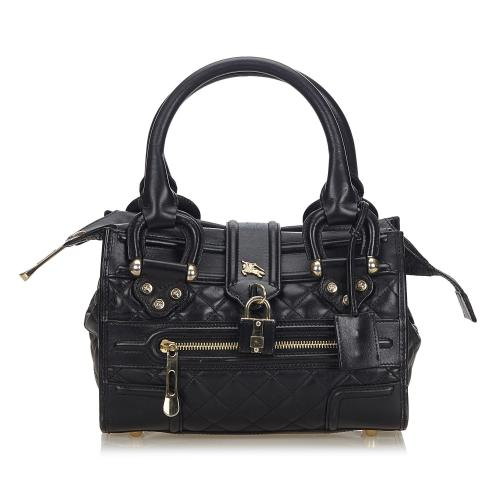 Burberry Quilted Leather Mini Manor Satchel