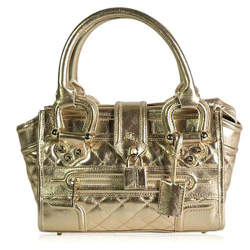 Burberry Quilted Leather Mini Manor Satchel Handbag