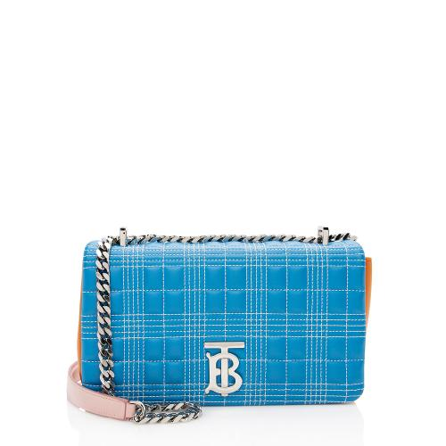 Burberry Quilted Leather TB Lola Chain Shoulder Bag