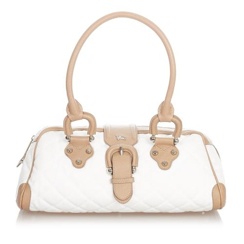 Burberry Quilted Manor Nylon Shoulder Bag