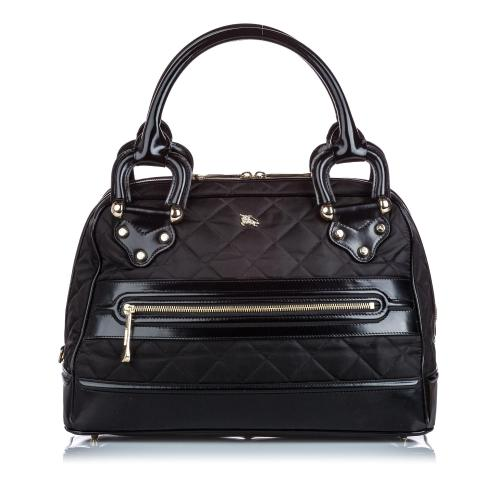 Burberry Quilted Nylon Manor Handbag