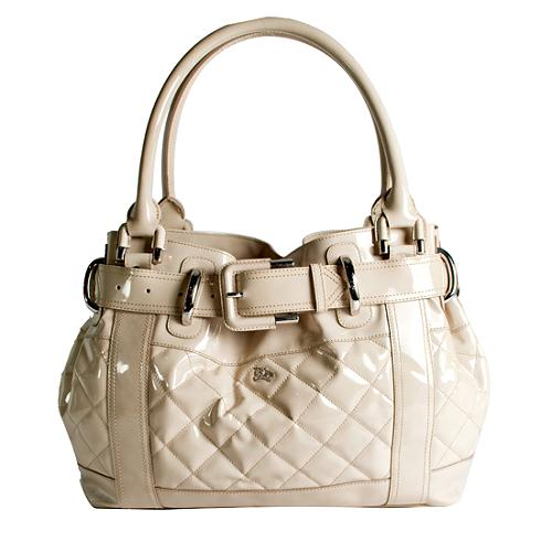 Burberry Quilted Patent Leather Beaton Large Tote