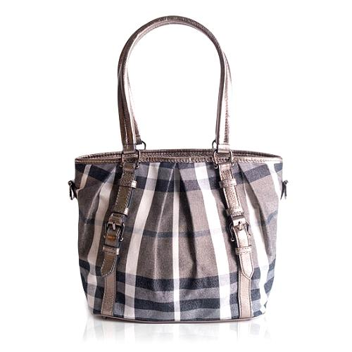 Burberry Shimmer Convertible Small Tote