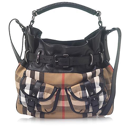 Burberry Small Bromley House Check Handbag