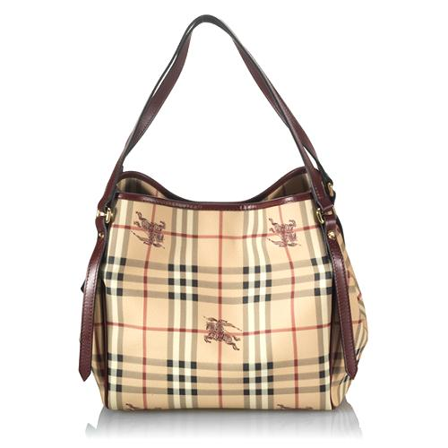 Burberry Haymarket Check Small Tote