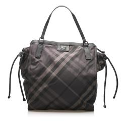 Burberry Smoke Check Buckleigh Nylon Tote Bag
