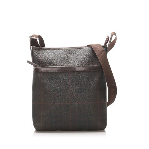 Burberry Smoke Check Coated Canvas Crossbody