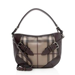 Burberry Smoke Check Leather Waltham Crossbody Bag