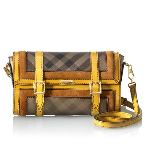 Burberry Smoked Check Flap Shoulder Bag