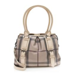 Burberry Smoked Check Northfield Small Tote