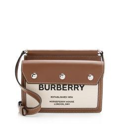 Burberry Smooth Calfskin Horseferry Print Title Mini Shoulder Bag