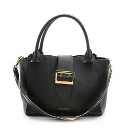 Burberry Soft Grain Calfskin Medium Buckle Tote