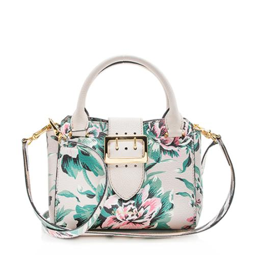 Burberry Soft Grain Leather Peony Rose Small Buckle Tote
