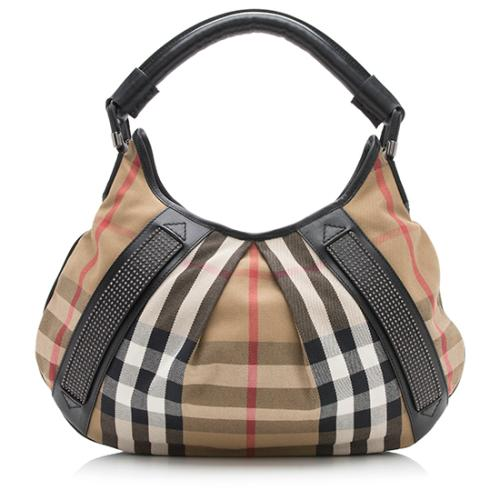Burberry Studded House Check Phoebe Hobo