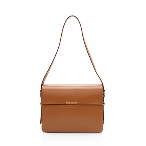 Burberry Two-Tone Leather Grace Large Shoulder Bag