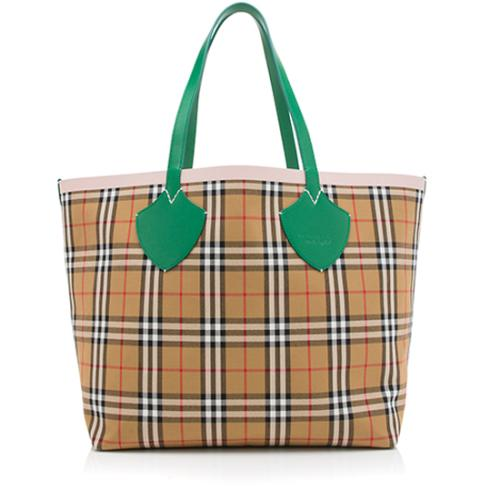 Burberry Vintage Check Giant Reversible Large Tote
