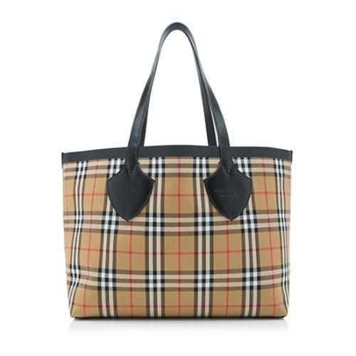 cc6810ff5f6f Burberry Vintage Check Reversible Medium Tote