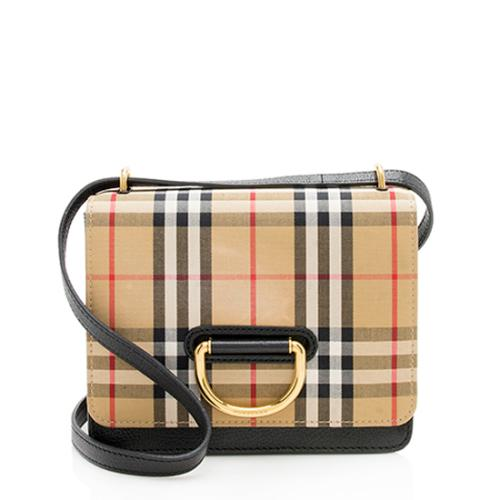 Burberry Vintage Check Small D-Ring Bag