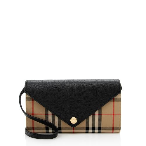 Burberry Vintage Check Wallet with Strap