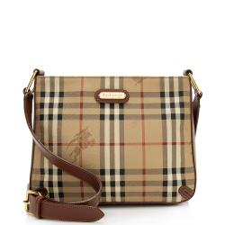 Burberry Vintage Haymarket Check Barnard Shoulder Bag