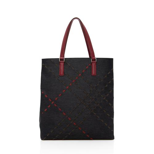 Burberry Vintage Stitch Effect Tall Tote