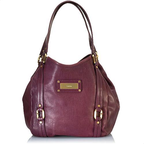 Calvin Klein C Link Tall Hobo Handbag