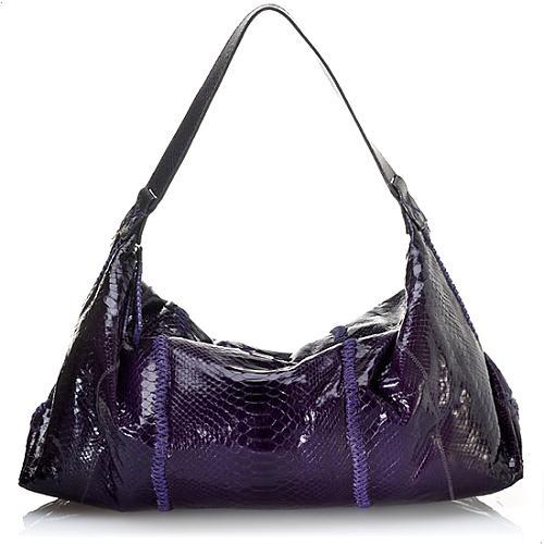Carlos Falchi East/West Soft Hobo Handbag