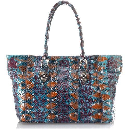 Carlos Falchi Ikat Tigersnake East/West Tote