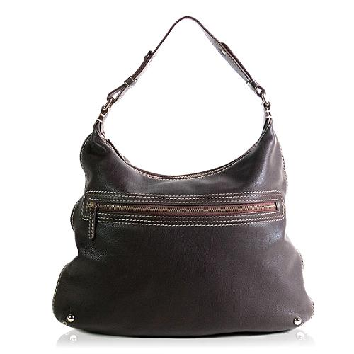 Carolina Herrera Leather Hobo Handbag