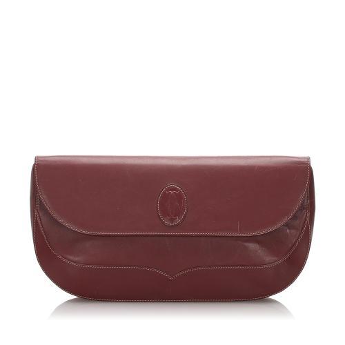 Cartier Vintage Leather Must de Cartier Clutch