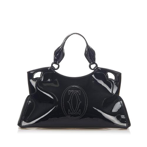 Cartier Marcello Patent Leather Handbag