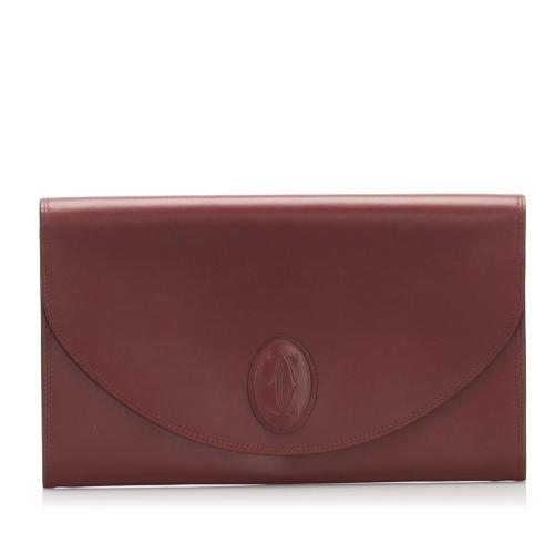 Cartier Must de Cartier Leather Clutch