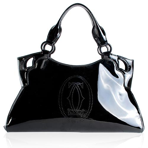 Cartier Patent Leather Marcello De Cartier Small Handbag