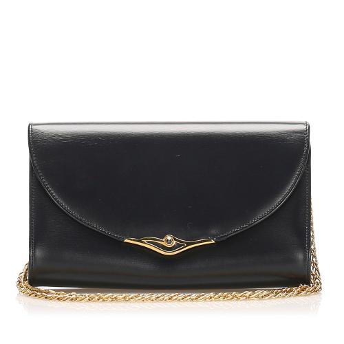 Cartier Sapphire Leather Shoulder Bag