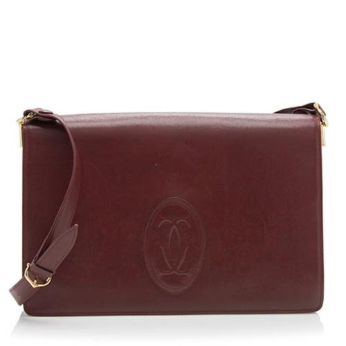 Cartier Vintage Leather Flap Shoulder Bag