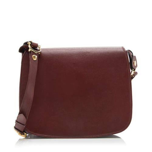 Cartier Vintage Leather Saddle Shoulder Bag