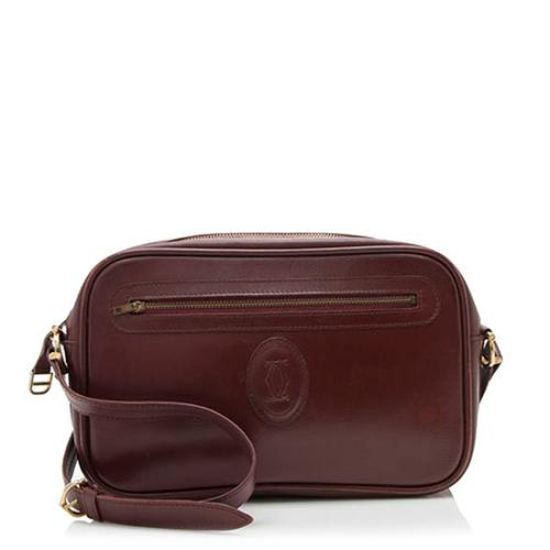Cartier Vintage Leather Shoulder Bag