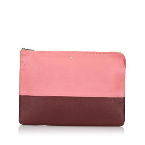 Celine Bicolor Leather Clutch