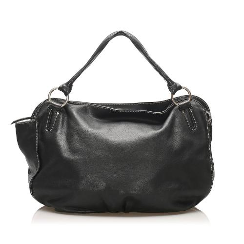 Celine Bittersweet Leather Hobo Bag