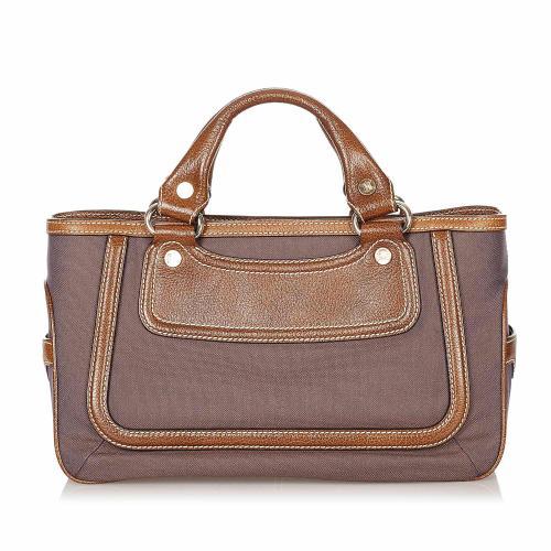 Celine Boogie Canvas Handbag