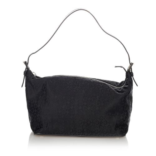 Celine C Macadam Nylon Shoulder Bag