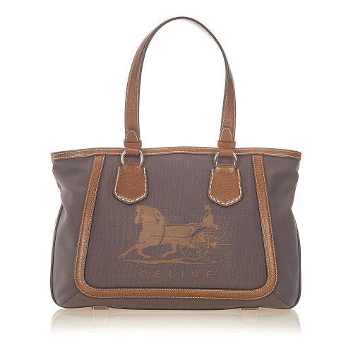 Celine Canvas Tote Bag
