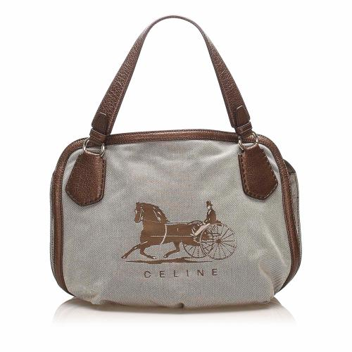 Celine Carriage Canvas Tote Bag